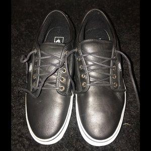 Vans Men's Black Leather Sneaker Size 12